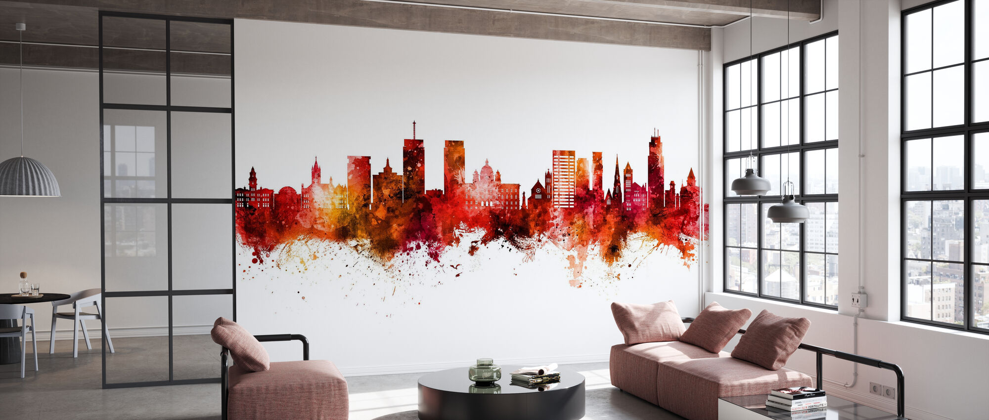 Syracuse New York Skyline - Wallpaper - Office