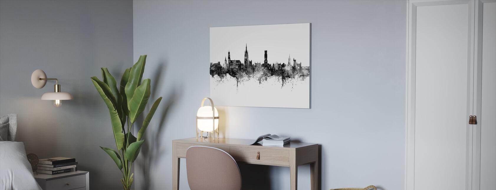 Bruges Belgium Skyline - Canvas print - Office