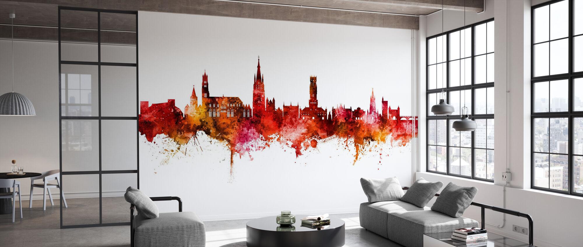 Bruges Belgium Skyline - Wallpaper - Office