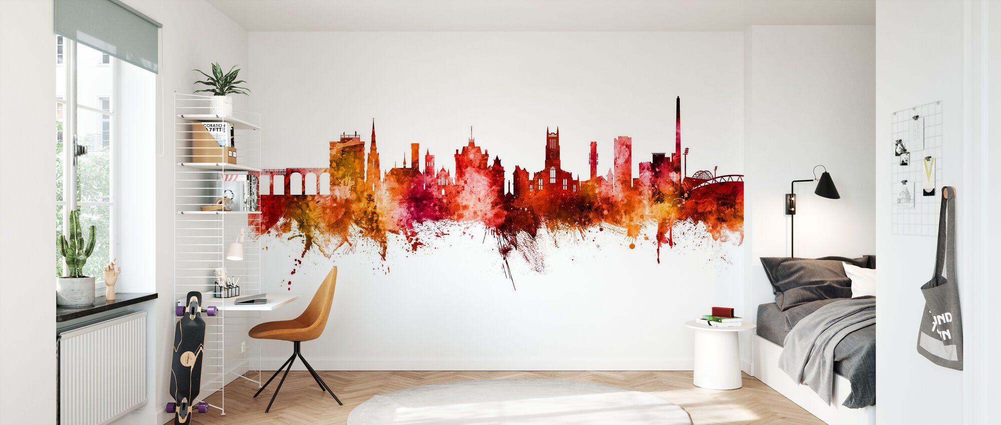 Huddersfield England Skyline - Wallpaper - Kids Room