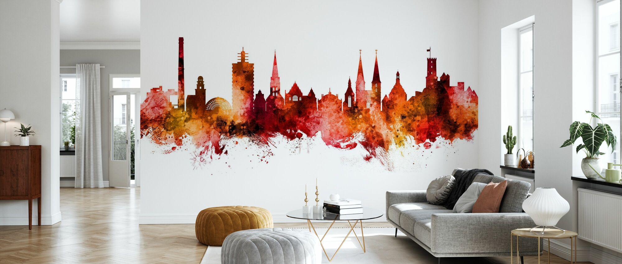 Bielefeld Germany Skyline - Wallpaper - Living Room