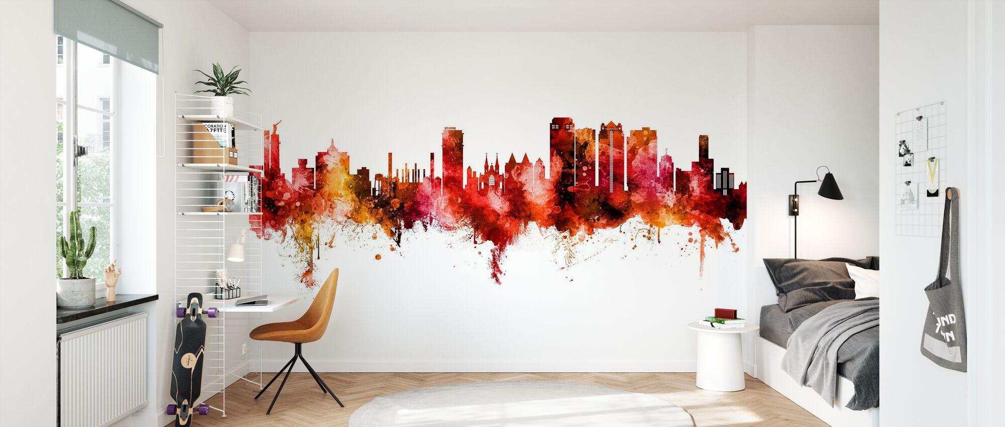 Birmingham Alabama Skyline - Wallpaper - Kids Room