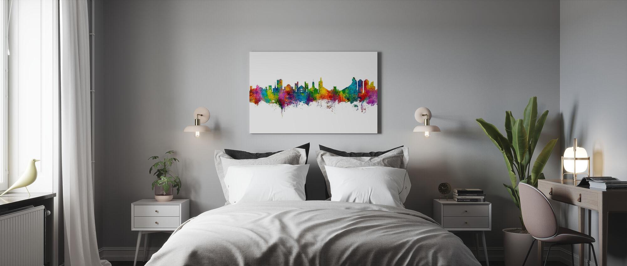 Boulder Colorado Skyline - Canvas print - Bedroom
