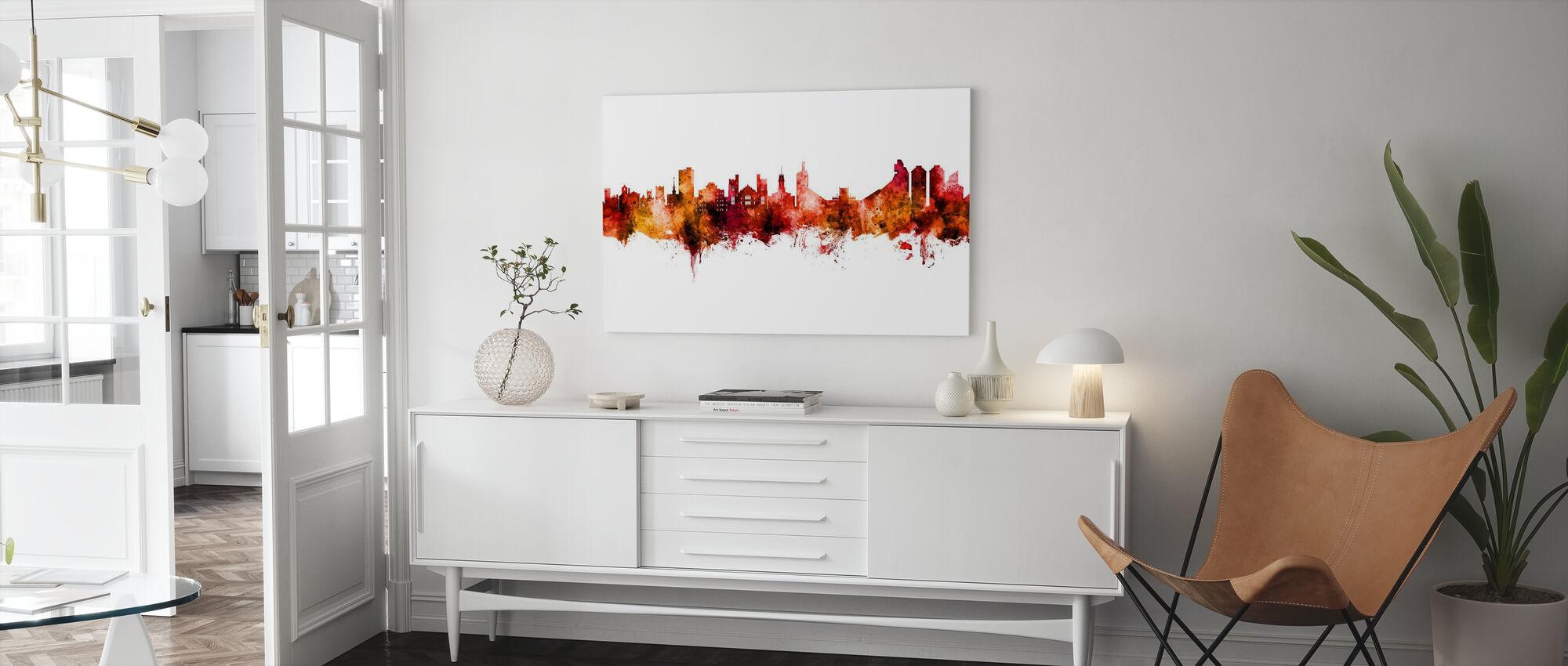 Boulder Colorado Skyline - Canvas print - Living Room