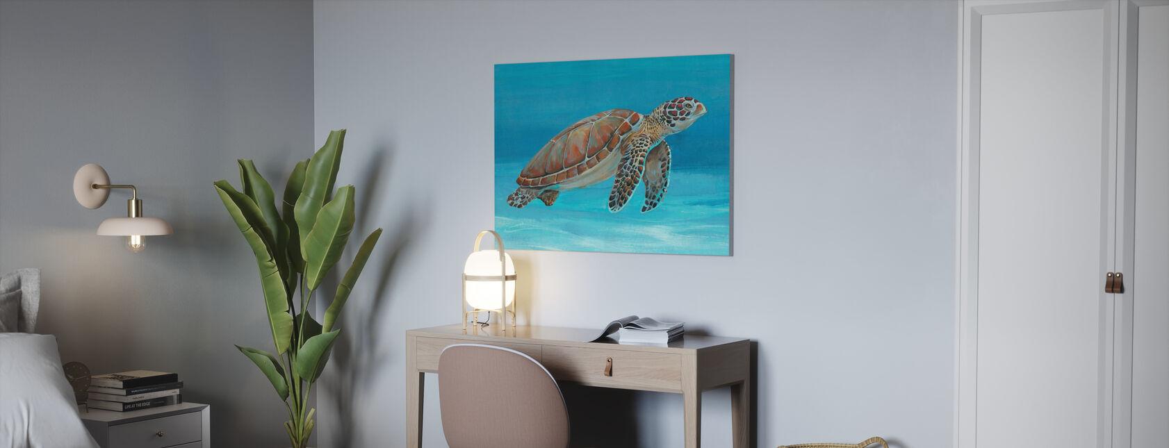 Ocean Sea Turtle - Canvas print - Office
