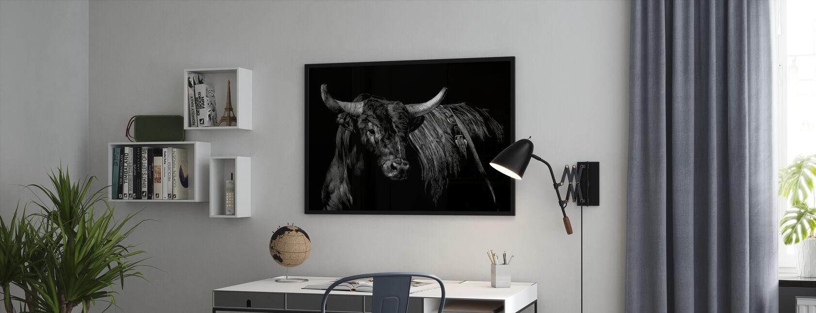 Brindle Rodeo Bull - Indrammet billede - Kontor