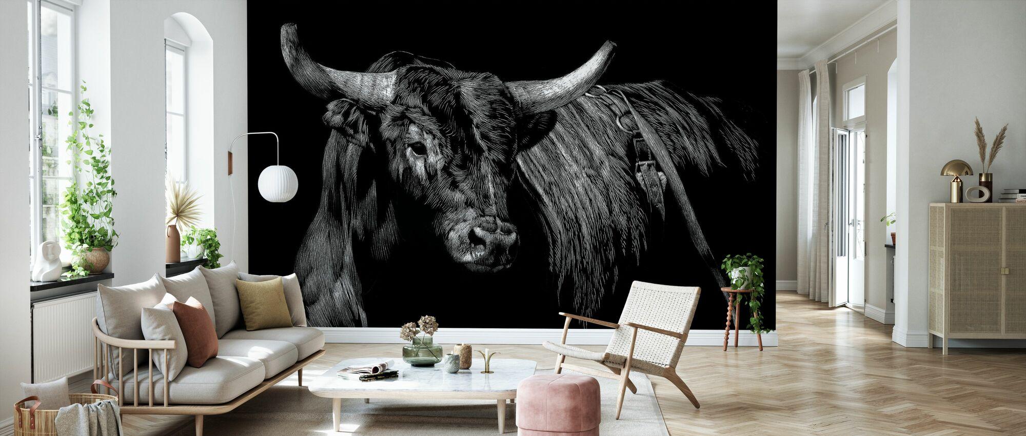 Brindle Rodeo Bull - Tapet - Vardagsrum