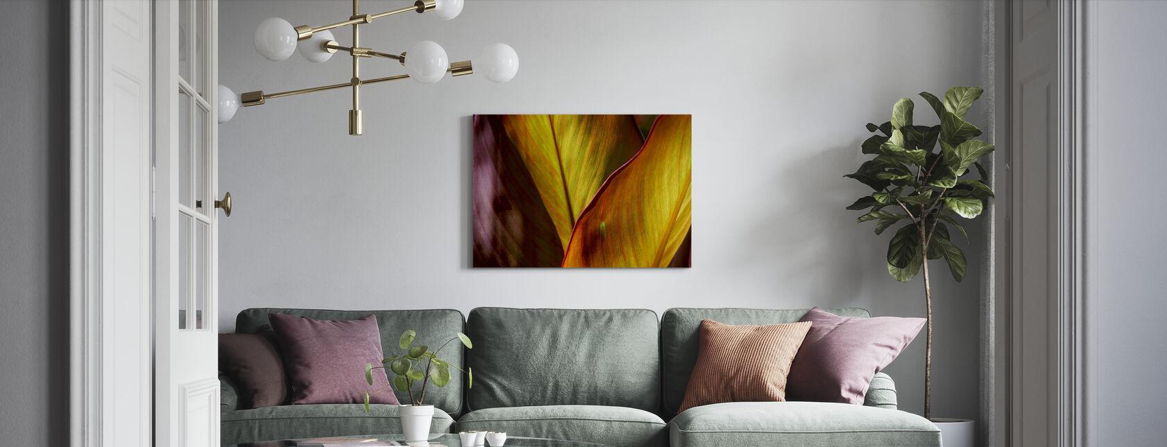 Backlit Leaves - Canvas print - Living Room