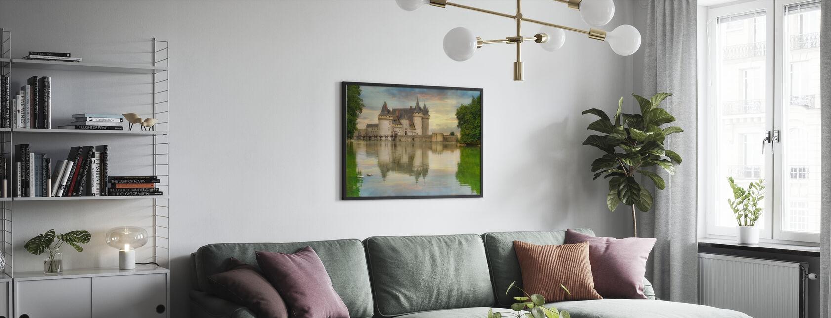Castillo Refleja en el agua - Póster - Salón