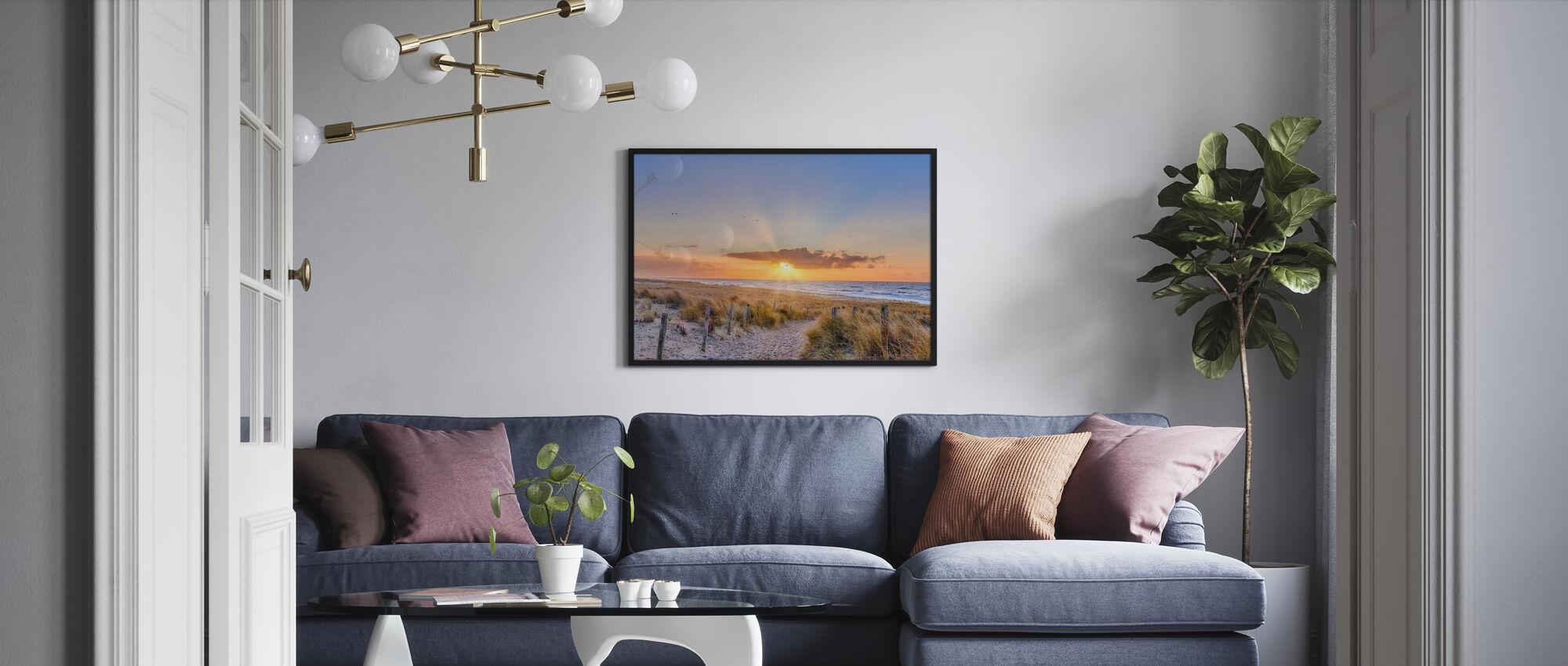 Solnedgang på havet II - Plakat - Stue