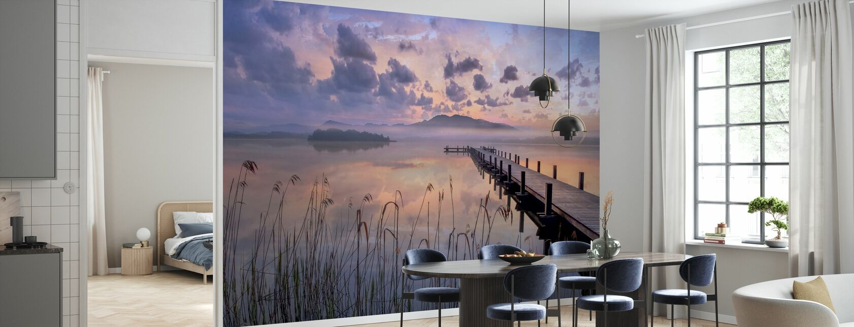 Sunset by the Jetty - Wallpaper - Kitchen