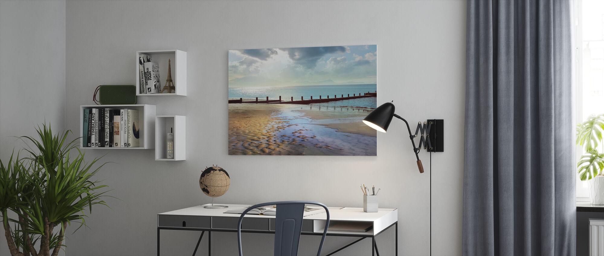 Beachline Zonnig Uitzicht - Canvas print - Kantoor