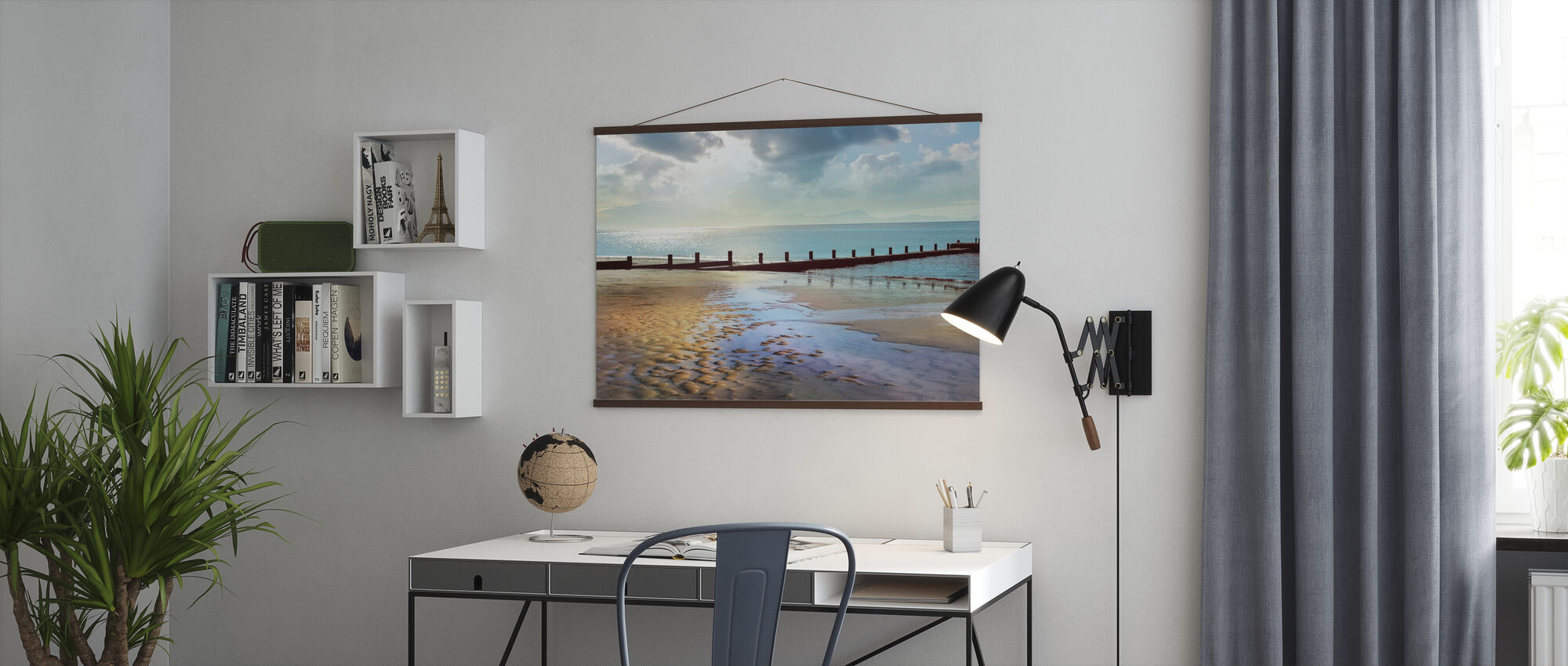 Beachline Zonnig Uitzicht - Poster - Kantoor