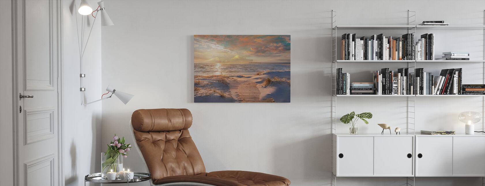 Beach Sand Path - Canvas print - Living Room