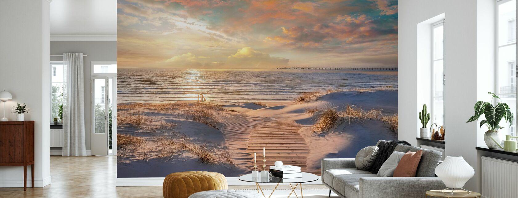 Strand Zand Pad - Behang - Woonkamer