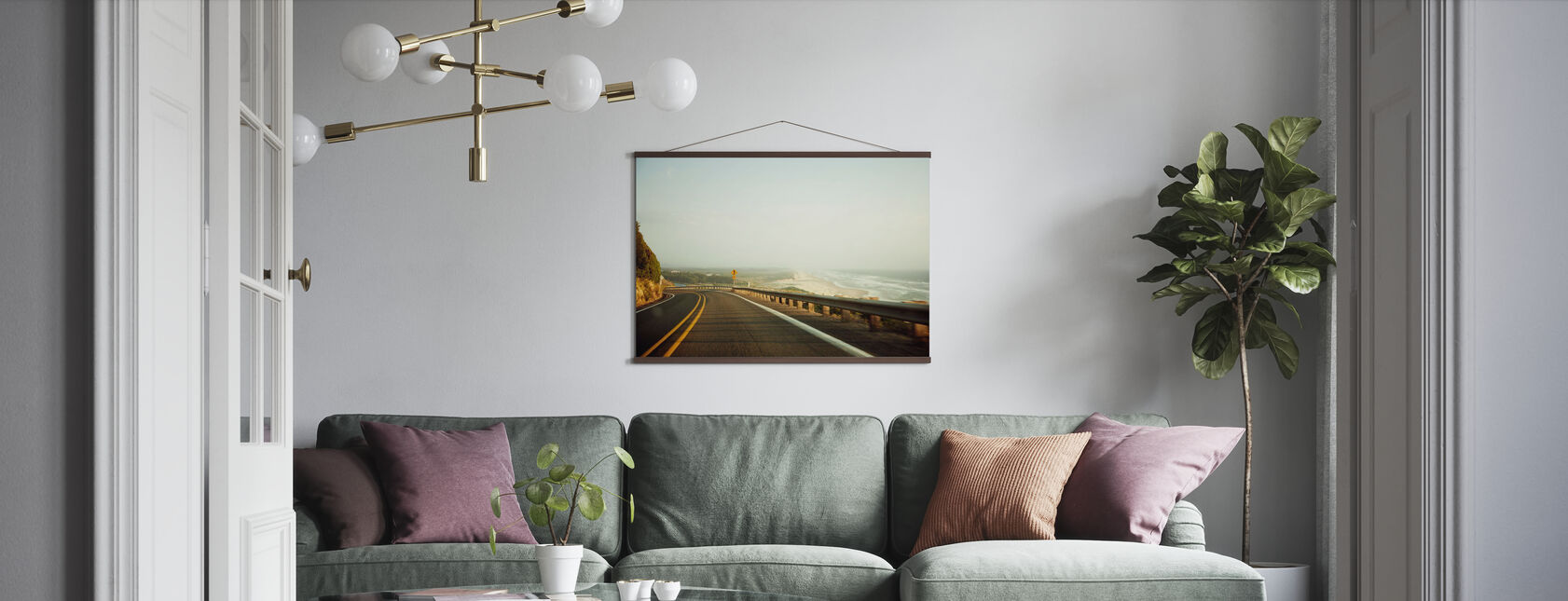 Highway 1 by the San Francisco Beach - Poster - Living Room