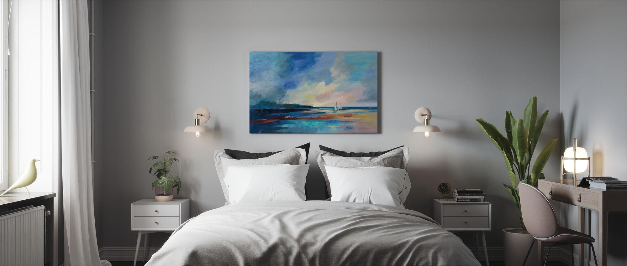 Ultramarine Hav og himmel - Billede på lærred - Soveværelse