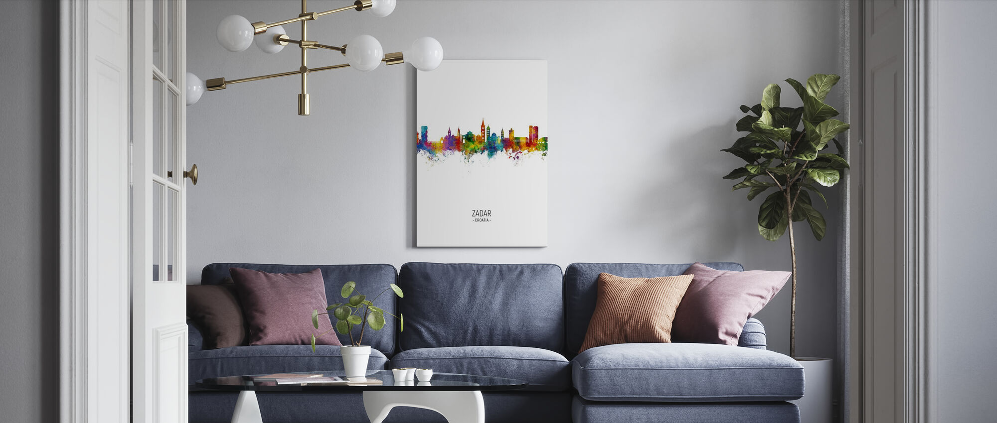 Zadar Croatia Skyline - Canvas print - Living Room