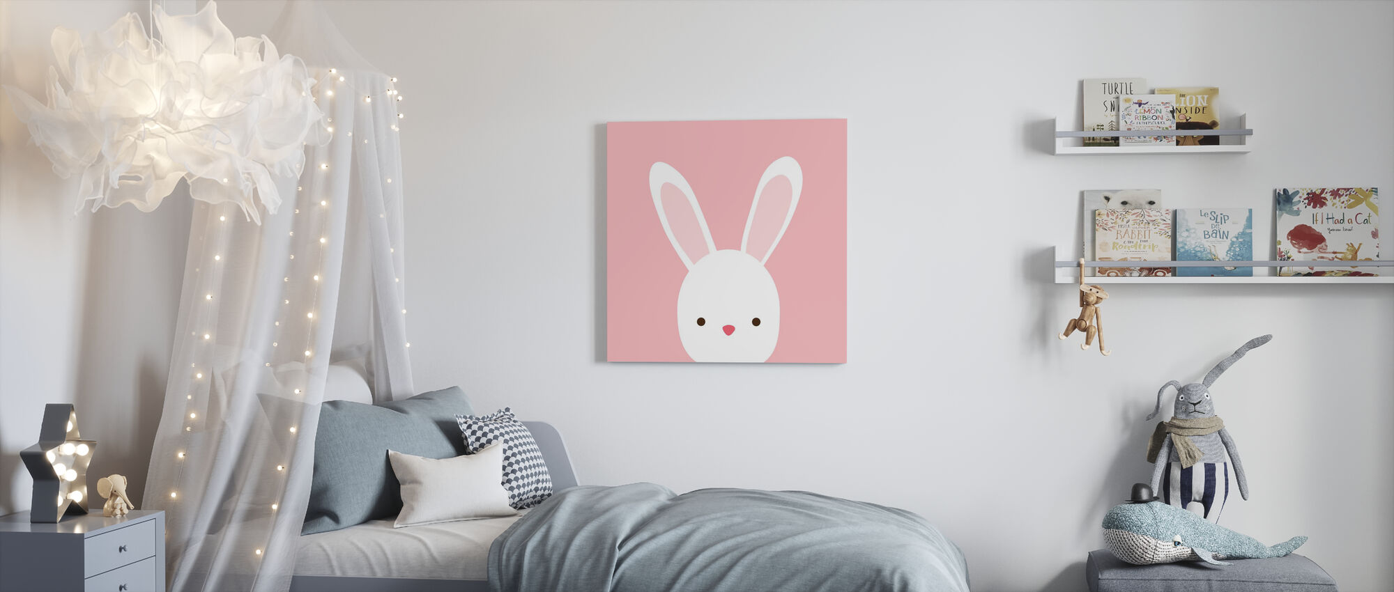 Cuddly Bunny - Canvas print - Kids Room