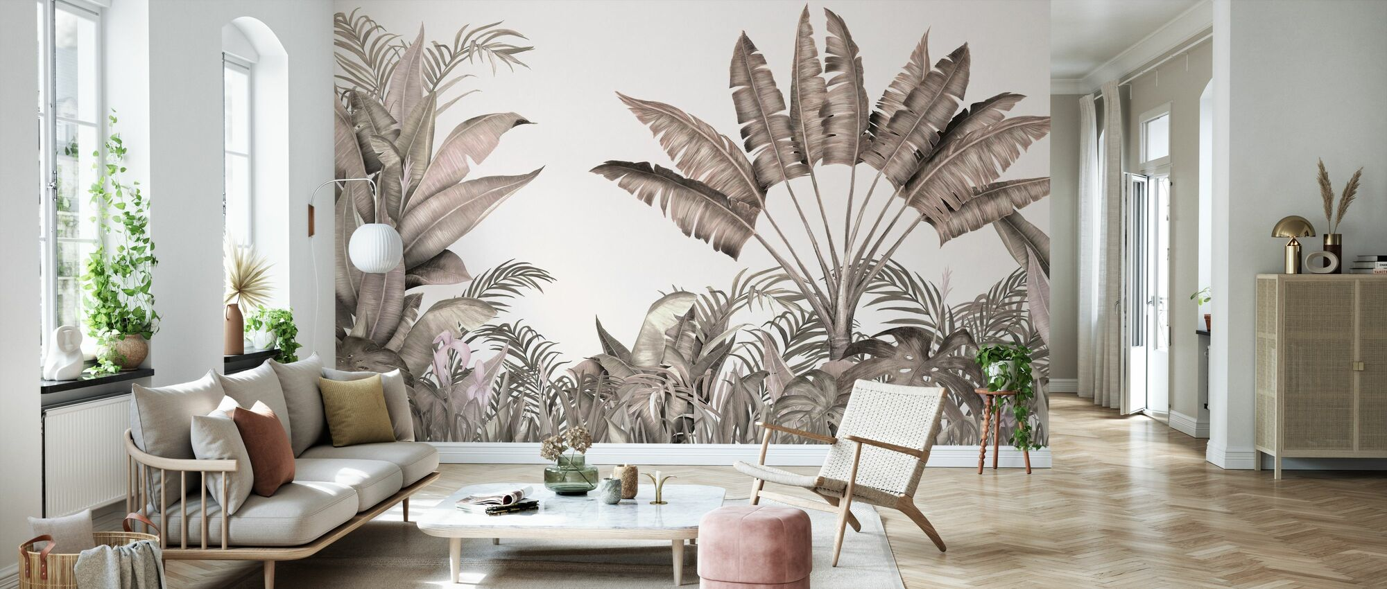 Tropical Humble Blush - Papel pintado - Salón