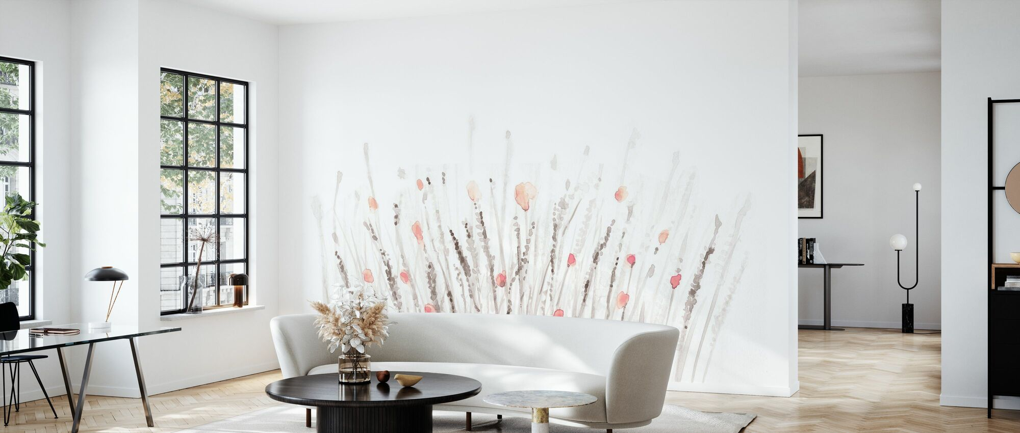 Boho Poppies - Wallpaper - Living Room