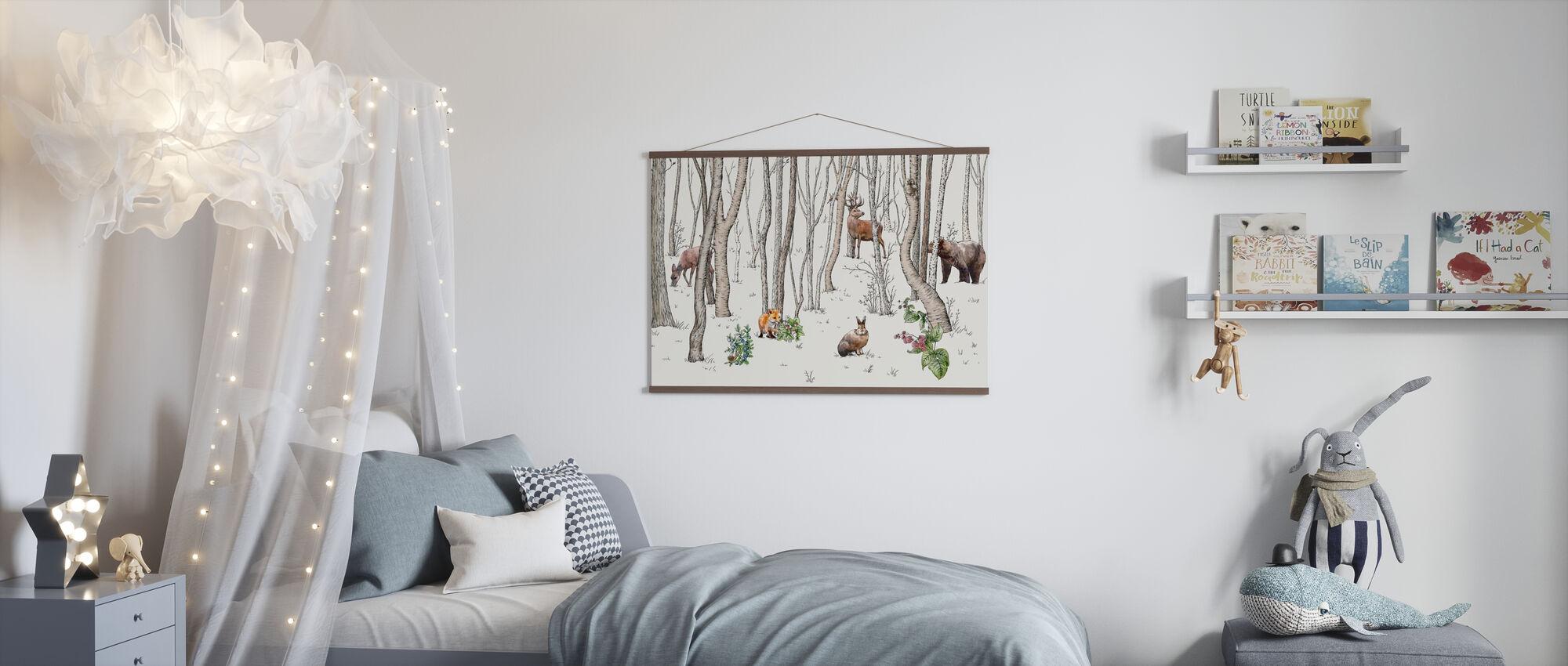 Skogens dyr - Plakat - Barnerom