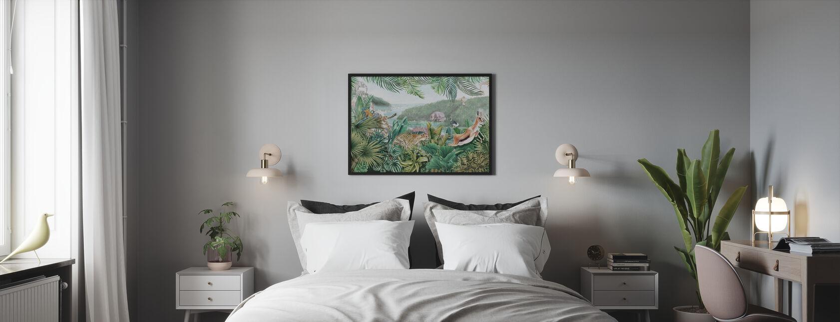 Jungle Inzichten - Ingelijste print - Slaapkamer