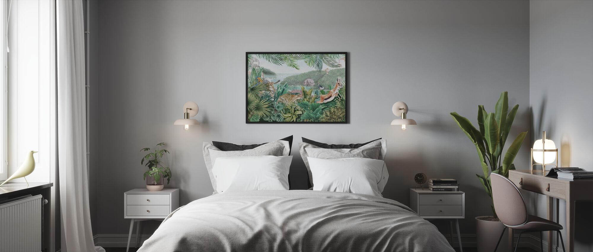 Jungle Insights - Indrammet billede - Soveværelse