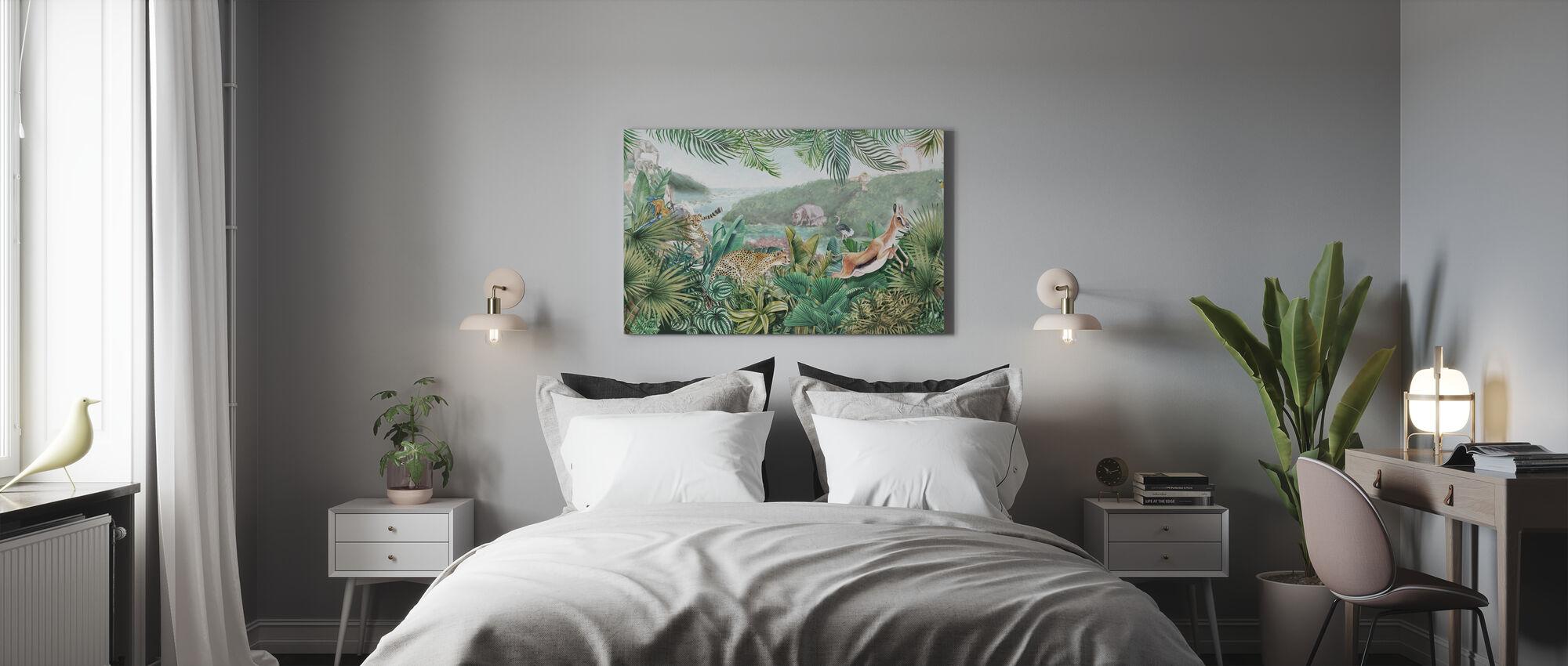 Jungle Inzichten - Canvas print - Slaapkamer