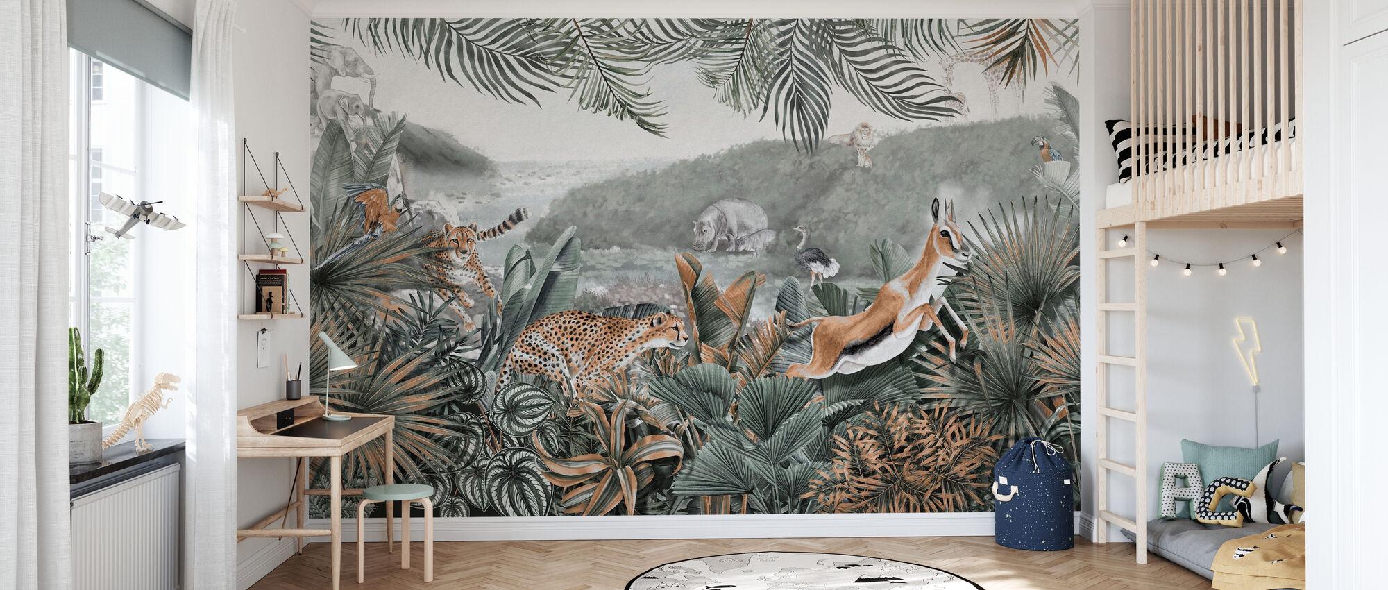Jungle innsikt II - Tapet - Barnerom