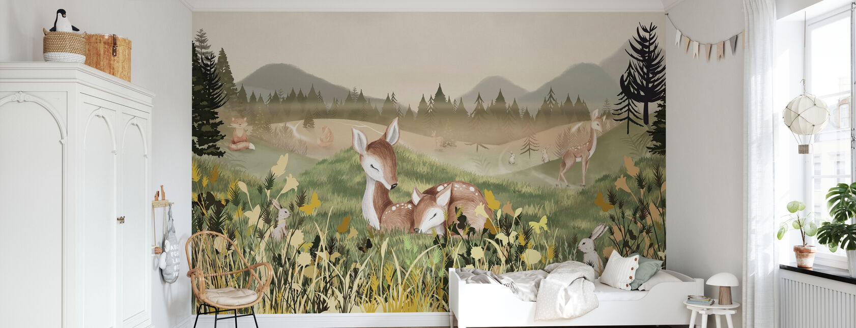 Relaxing Forest - Wallpaper - Kids Room