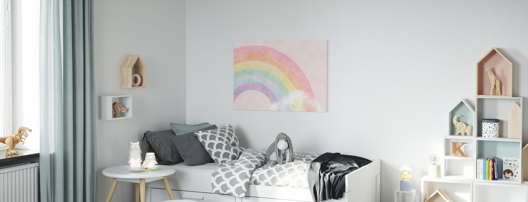 Sparkling Rainbow - Canvas print - Kids Room