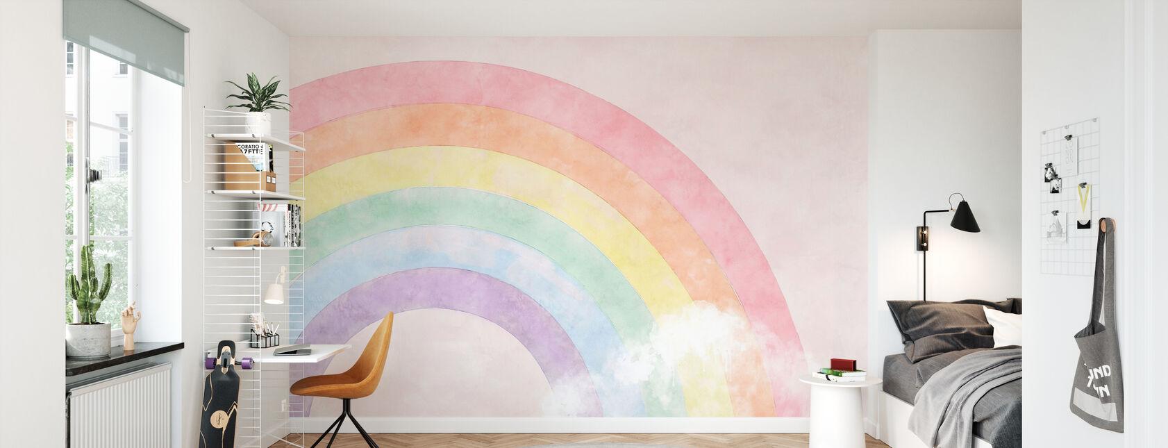 Funkelnder Regenbogen - Tapete - Kinderzimmer
