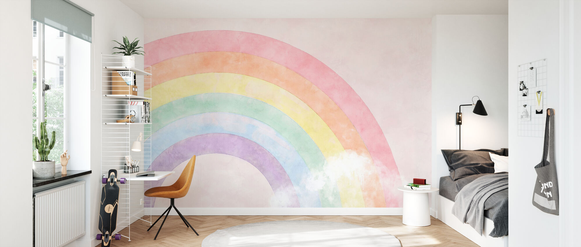 Sparkling Rainbow - Wallpaper - Kids Room