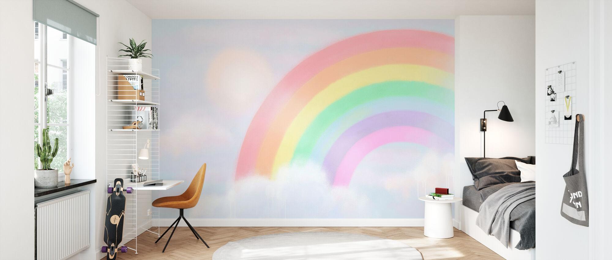 Funkelnder Regenbogen II - Tapete - Kinderzimmer