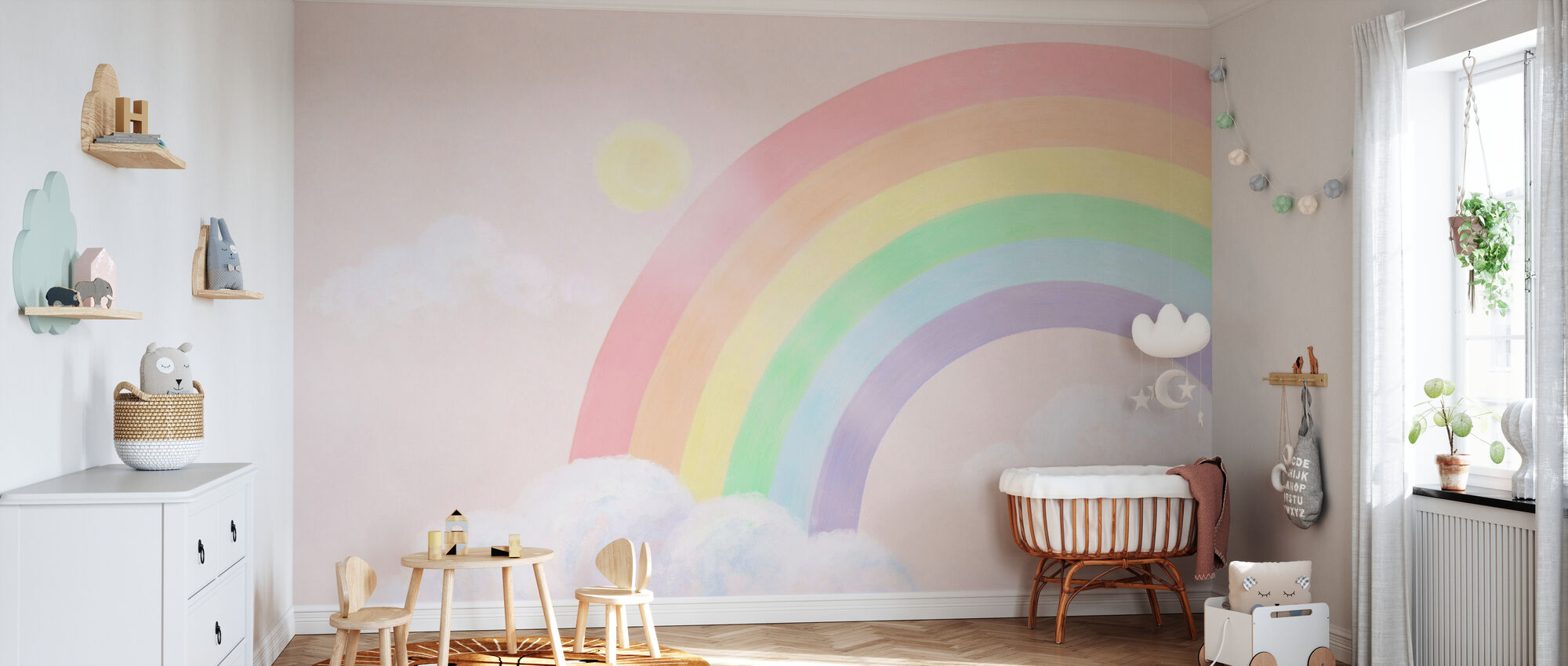 Sparkling Rainbow III - Wallpaper - Nursery