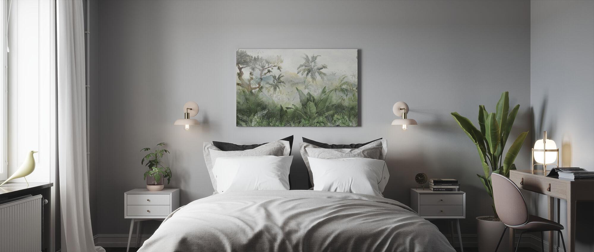 Sunbeam trough Jungle - Canvas print - Bedroom