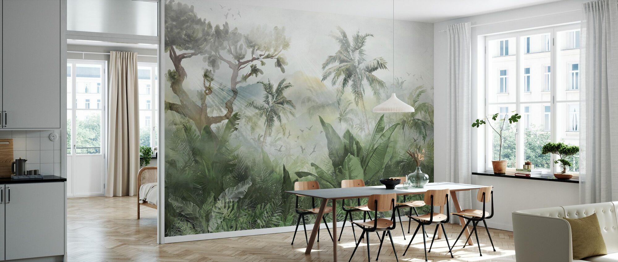 Sunbeam trog Jungle - Behang - Keuken
