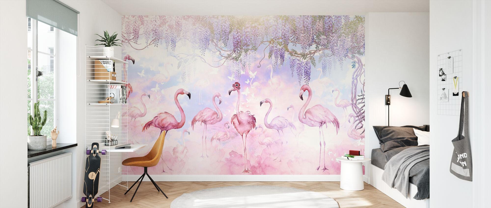 Flamingo Heaven - Wallpaper - Kids Room