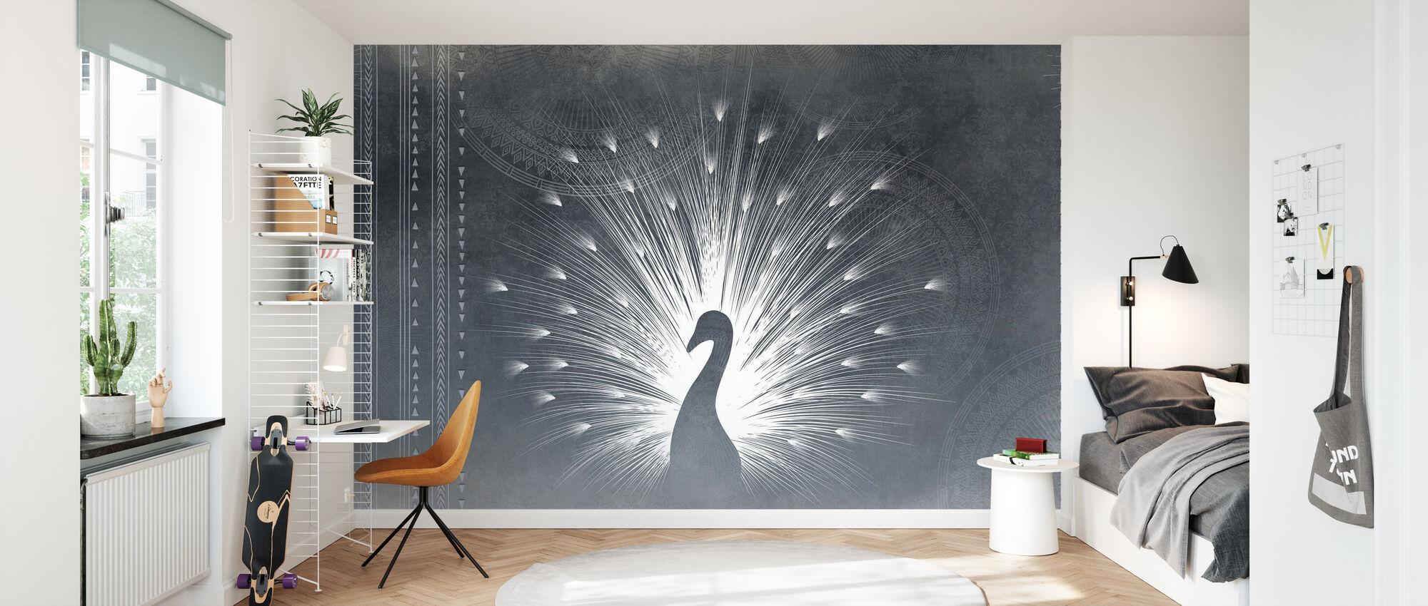 Peacock Deco - Wallpaper - Kids Room