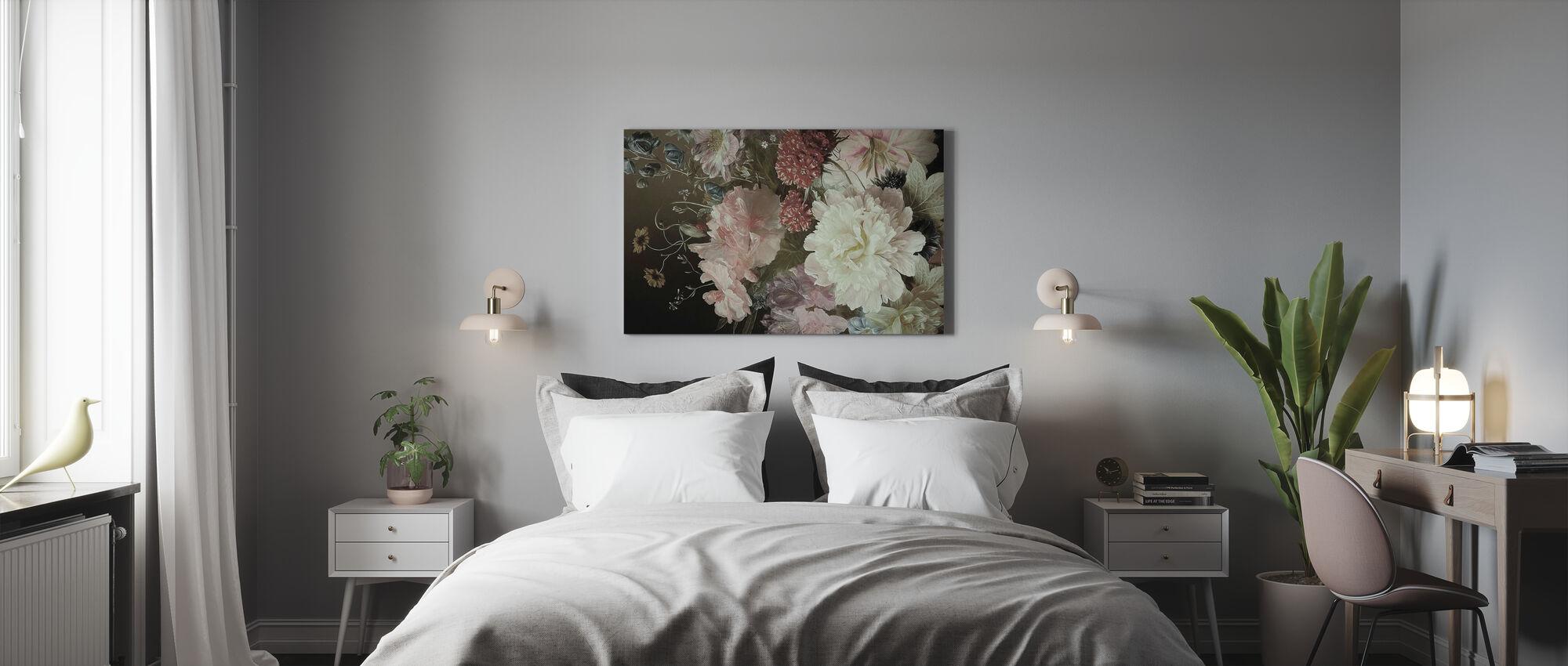 Weiße Pionen - Leinwandbild - Schlafzimmer