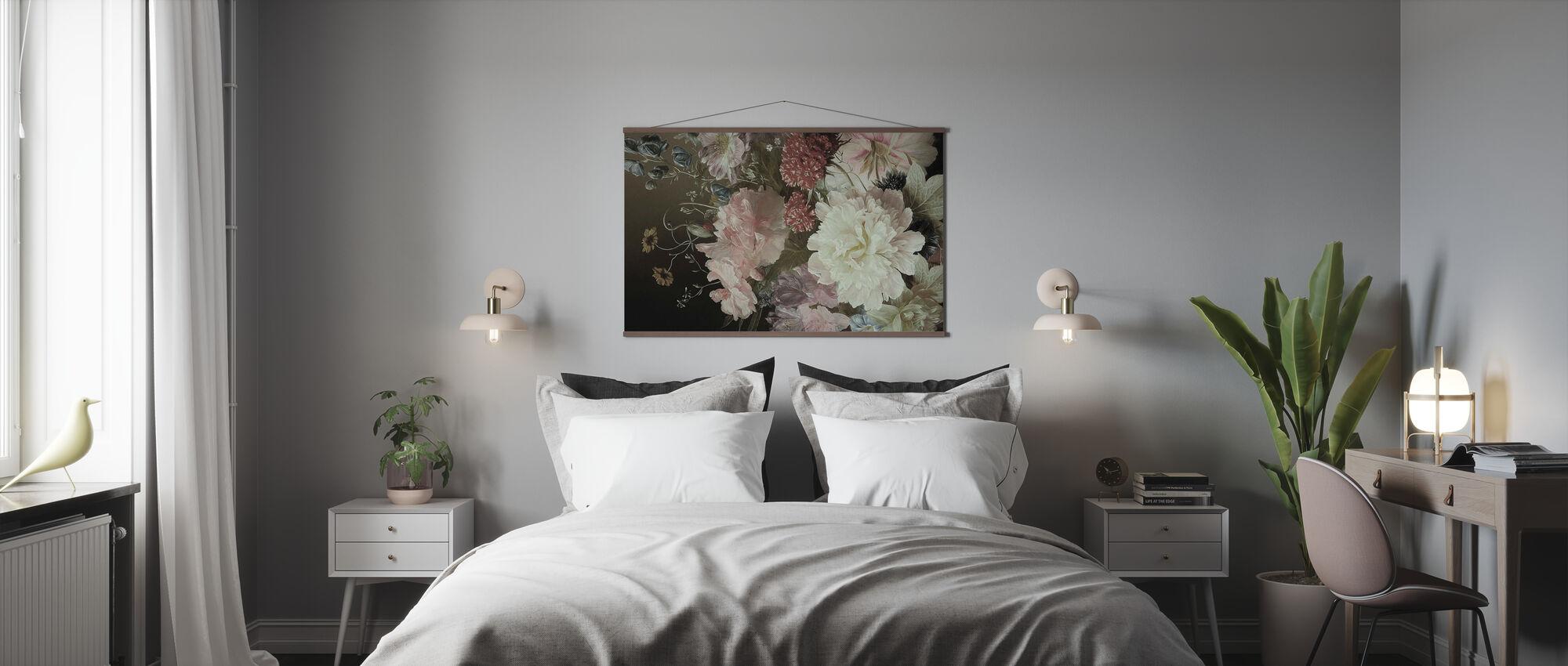Witte Pionen - Poster - Slaapkamer