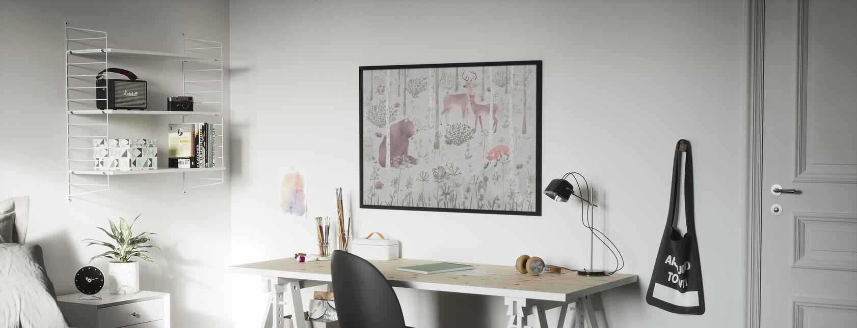 Wildlife - Bright - Poster - Kids Room