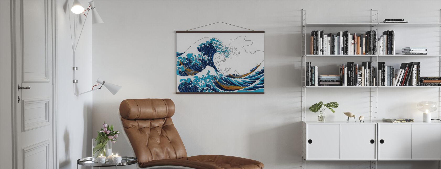 Great Wave of Kanagawa - Poster - Living Room