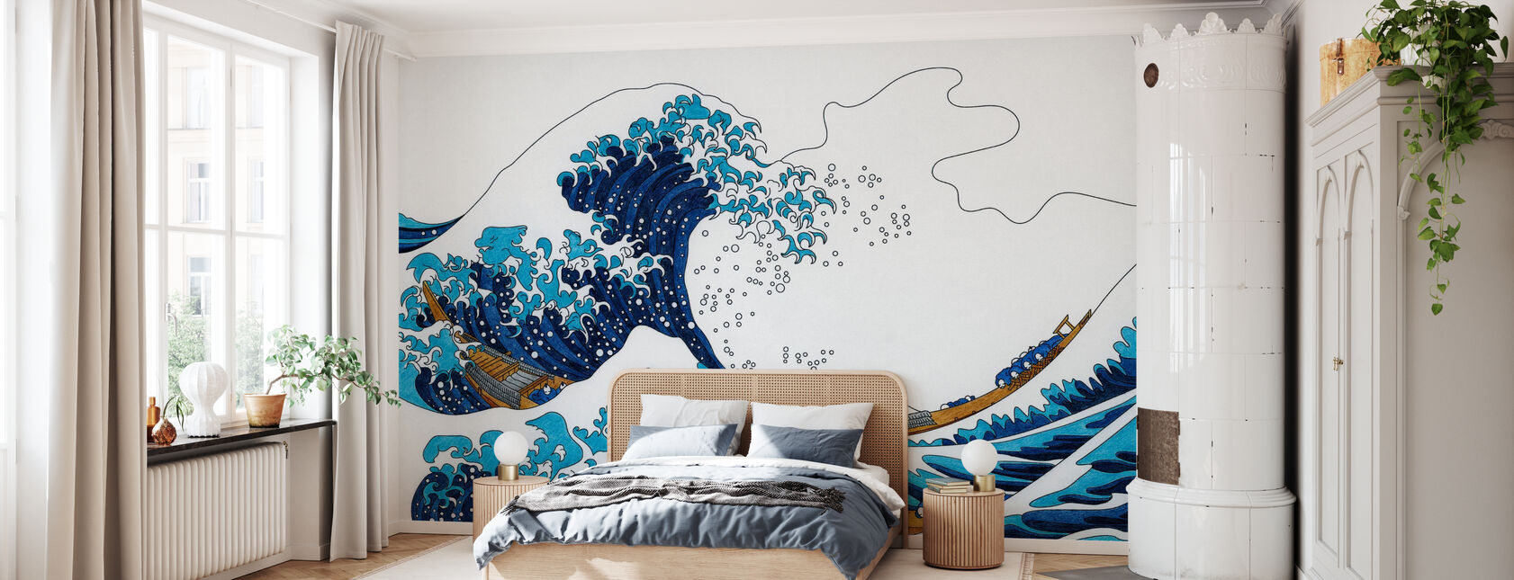 Great Wave of Kanagawa - Wallpaper - Bedroom