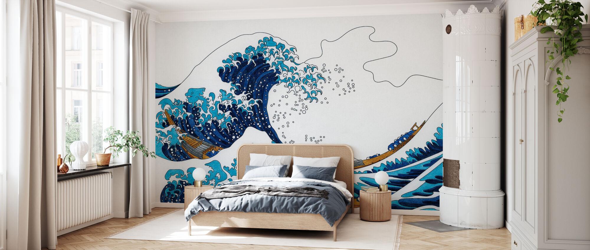 Great Wave of Kanagawa - Wallpaper - Bedroom