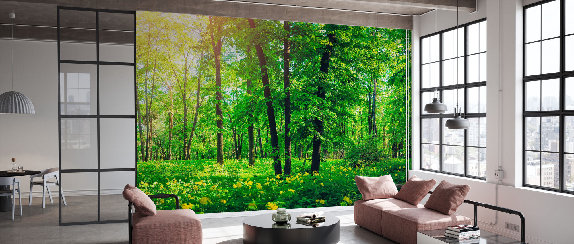Grön skog på sommaren - Tapet - Kontor