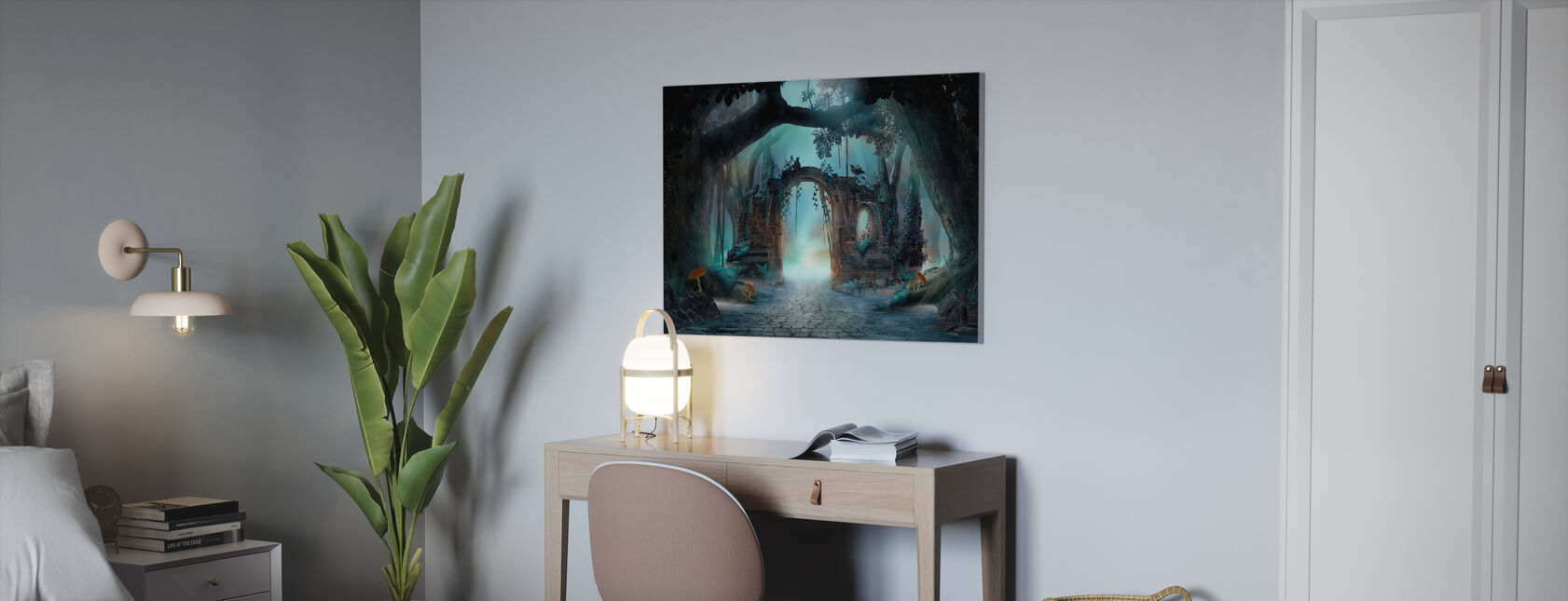 Archway in an Enchanted Forest - Canvas print - Office
