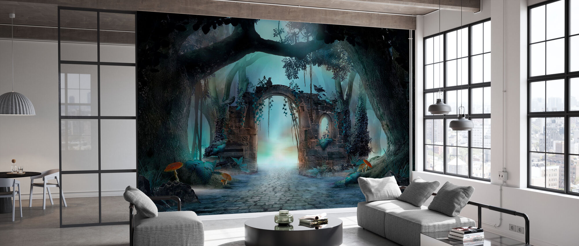 Archway in an Enchanted Forest - Wallpaper - Office
