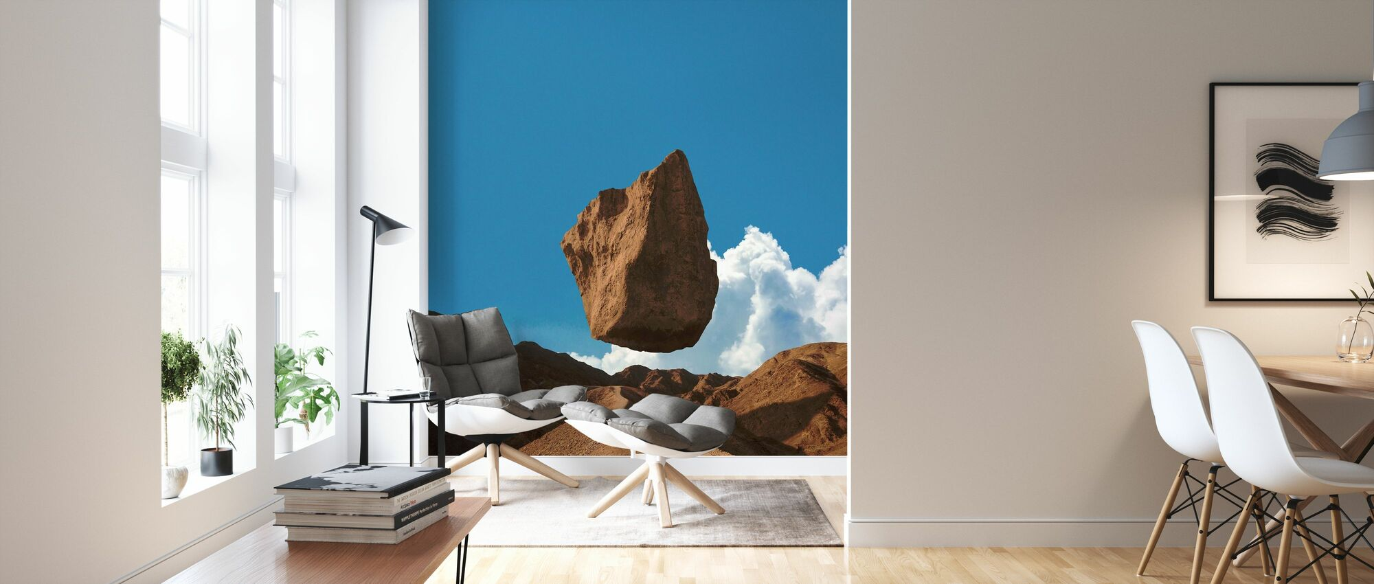 Floating Land - Wallpaper - Living Room